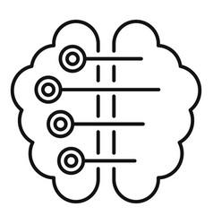 ai smart brain icon outline style vector image