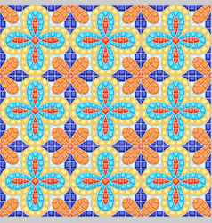 ancient mosaic ceramic tile pattern vector image