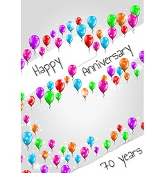 Anniversary poster 70 years vector