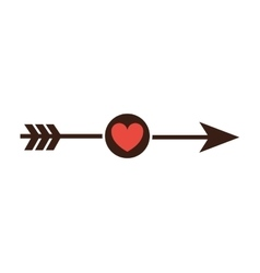 Arrow with heart icon vector