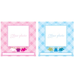 Baby photo frame vector