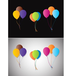 Balloons on a different background vector image