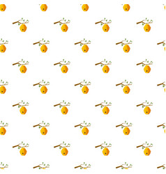 beehive on tree pattern vector image
