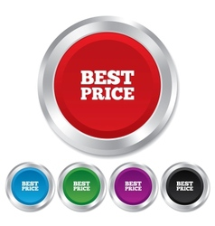Best price sign icon Special offer symbol vector image