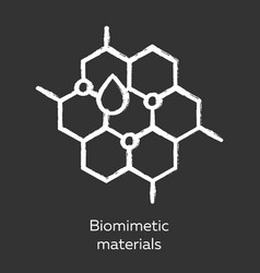 Biomimetic materials chalk icon copying natural vector