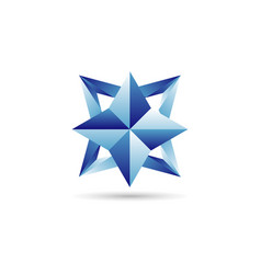 blue star logo sign symbol icon vector image