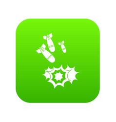 bomb icon digital green vector image