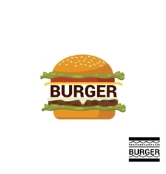 Burger shop icon logo design vector image
