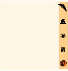 Business-card-orange-halloween vector