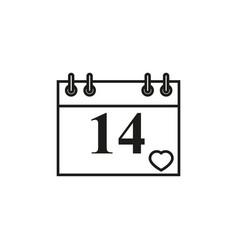 calendar valentin icon vector image