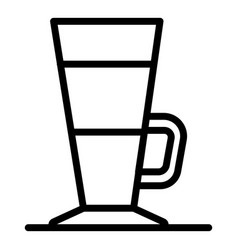 Cappuccino glass icon outline style vector