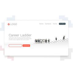 Career ladder business people vector
