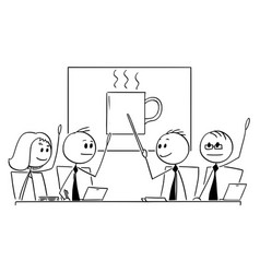 Cartoon of business team or people meeting voting vector