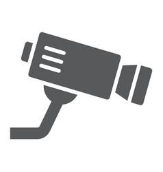 cctv camera glyph icon privacy and video vector image