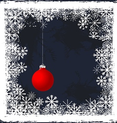 Christmas grunge background with frozen windows vector image