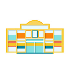 Classic city shopping mall modern building vector