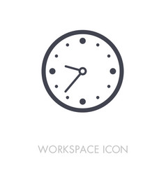 Clock outline icon workspace sign vector