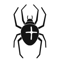 Cross spider icon simple style vector