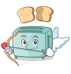 Cupid toaster character cartoon style vector