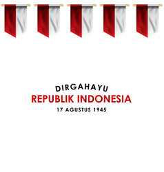 Dirgahayu republik indonesia design for banner vector