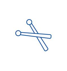 drumsticks line icon concept drumsticks flat vector image