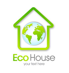 eco house green home vector image