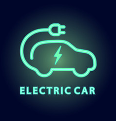 Electric car icon logo element vector