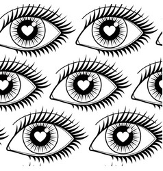 eyes of lovers seamless pattern vector image