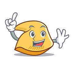 Finger fortune cookie mascot cartoon vector