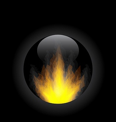 Fire flame in circle frame vector image