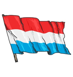 Flag luxembourg vector