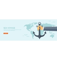 flat backgrounds travel vector image