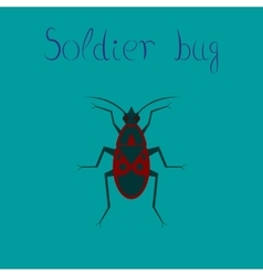 flat icon on background soldier bug vector image