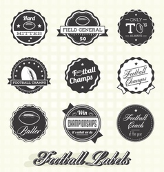 Football Champion Labels And Icons vector image