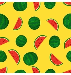 Fruits watermelon seamless patterns vector image vector image