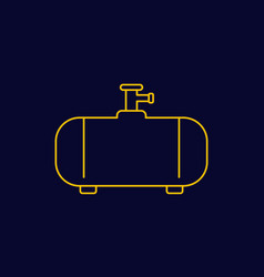 Gas tank industrial cylinder linear icon vector