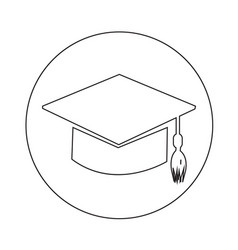 graduation cap icon design vector image