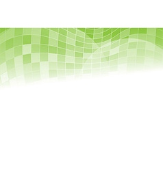 Green background with tiles on top vector image
