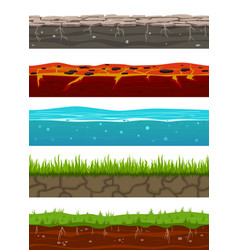 ground seamless levels game earth surfaces with vector image