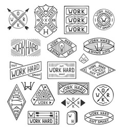 Hand drawn logo set modern vintage logo templates vector