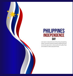 Happy philippines independence day celebration vector