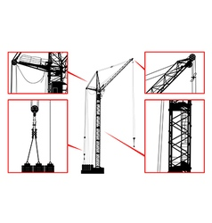 High detailed hoisting crane vector