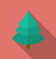 Icon of Christmas Tree Flat style vector image