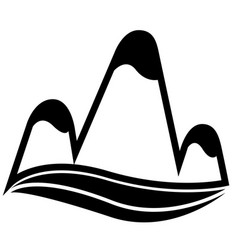 isolated mountain icon vector image