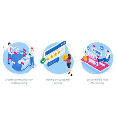 Isometric global communication outsourcing rating vector