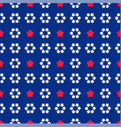 Kids colorful seamless star usa pattern cute baby vector