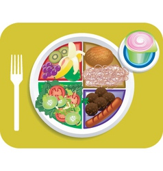 Lunch items vector