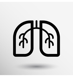 Lungs icon isolated on white background art vector image