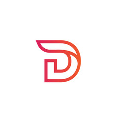 luxury logotype premium letter d logo with modern vector image