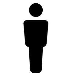 Man alone - icon vector